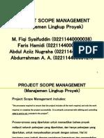 Project Scope Kelompok 3