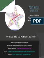 Kindergarten Curriculum Night 2017.Ppt