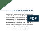 PROPOSTA DE TRABALHO DIGITAL