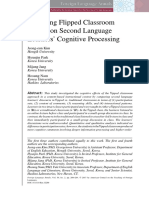 Flipped Classroom Effects on Second Language Learners' Cognitive Processing