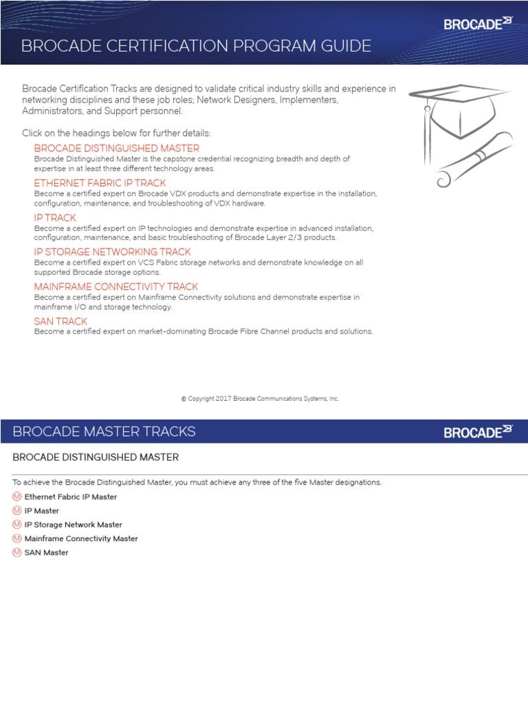 Brocade Certification Program Guidepdf