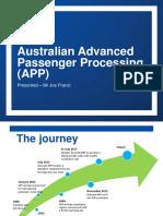 Australian Advanced Passenger Processing