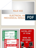 Electrical and Mechanical Regulations