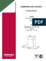 Manual de Instalacion, Uso y Mantenimineto Contra Pared