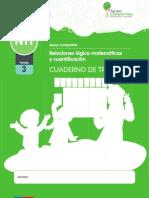 NT1 CUADERNO de TRABAJO. Relaciones Lógico-matemáticas y Cuantificación. Apoyo Compartido. Nombre_ Período 3