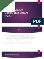 Planificación Curricular Anual (Pca)
