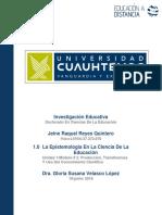 Jeine Raquel Reyes Quintero_Actividad 1.0 La Epistemología en La Ciencia de La Educación
