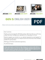 English User Manual Archos Gen5 v3