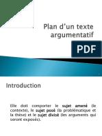 Plan d'Un Texte Argumentatif à Publier