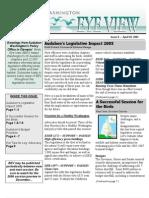 2005 Issue #8 Bird's Eye View Newsletter Washington Audubon Society