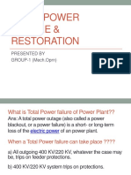 Total Power Failure & Restoration