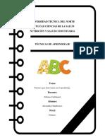 Portafolio- Tecnicas de Aprendizaje