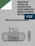 Samsung Radiograbador RCD 1560 Manual ESP