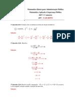 Matemática Básica Para Administração Pública - AP3 - 2017.1