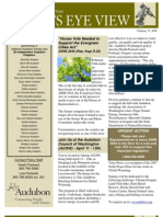 2008 Issue #2 Bird's Eye View Newsletter Washington Audubon Society