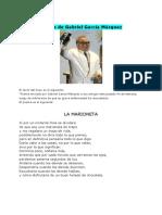 Poema de Gabriel Garcia Marquez MARIONETA