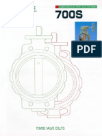 Tomoe - Rubber Seated Butterfly Valve 700s Series