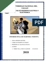 Informe de Marinera 2018