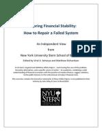 Restoring Financial Stability NYU Stern BS