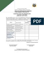 Certificado de Promocion de 1er Nivel