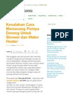 Kesalahan Cara Memasang Pompa Dorong Untuk Shower Dan Water Heater