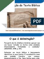 delimitac3a7c3a3o-do-texto-bc3adblico-prof-roney-ricardo.pptx
