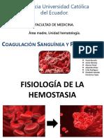 Presentación de Hematología Coagulación y Fibrinolisis