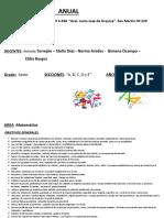 Planificación Anual de Matematica 2.017