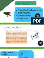 Sesión 5 Formulación, Justificación, Limitaciones y Objetivos
