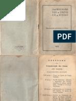 Guião da Cerimónias e Andores da Procissão das cinzas de Aveiro 1955
