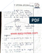 Indian National Movement Notes