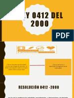 Ley 0412 Del 2000 Exposicion