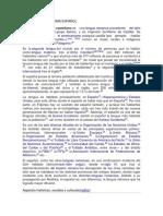 Evolucion Del Idioma Español