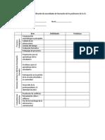 Matriz de Identificación de Necesidades de Formación de Los Profesores de La IE