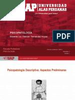 PPT SEMANA 1 Psicopatología Descriptiva