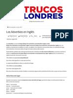 Los Adverbios en Inglés _ TrucosLondres