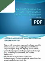 Perubahan Organisasional Dan Perencanaan Sdm