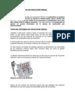 Tipos de Sistemas de Inyección Diesel