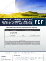Diagnóstico Basal de La Gestion y Manejo De