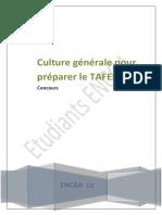 Culture Generale Pour Preparer Le Tafem 2018
