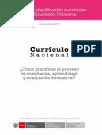 Cartilla Planificación Curricular de educación primaria