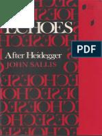[John Sallis] Echoes After Heidegger