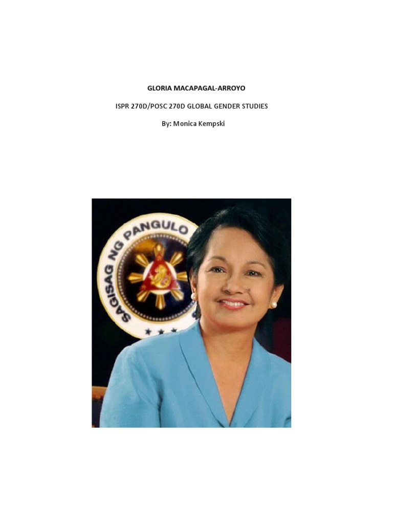gloria macapagal arroyo administration pdf