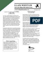 July-August 2006 Willapa Whistler Newsletter Willapa Hills Audubon Society