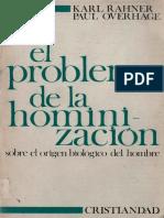 92494387 66982024 Rahner Karl El Problema de La Hominizacion