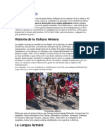 Cultura Aymara MARY
