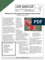 September-October 2008 Willapa Whistler Newsletter Willapa Hills Audubon Society