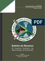 XI SBPV Boletim de Resumos