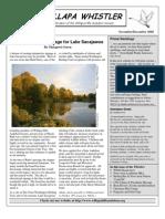 November-December 2008 Willapa Whistler Newsletter Willapa Hills Audubon Society