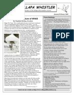 January-February 2009 Willapa Whistler Newsletter Willapa Hills Audubon Society